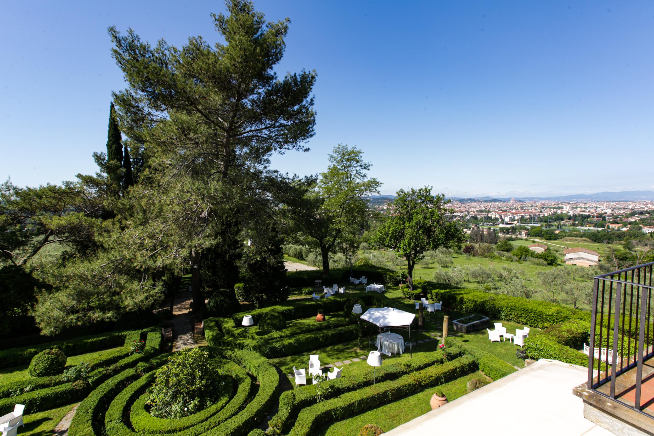 villa viviani firenze giardino terrazza